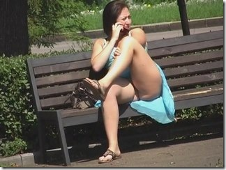 Two voyeur upskirt video of fat assed girl talking on the phone